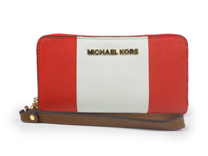 Michael Kors Jet Set Travel Center Stripe Multifunction Phone Wristlet