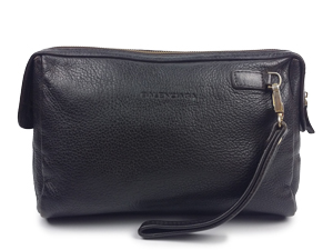 Balenciaga Black Full Leather Clutch