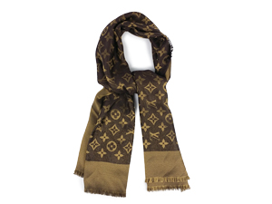 SOLD OUT Louis Vuitton Monogram Shine Shawl Scarf  M75122