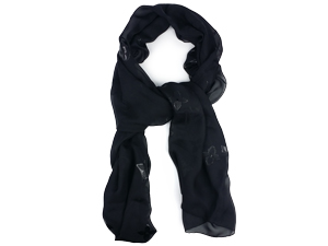 SOLD OUT Louis Vuitton Etole Glitter Noir Scarf M72145