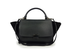 Celine Black Calf Skin Trapeze Bag