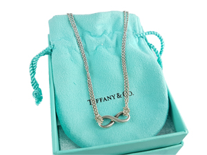 Tiffany & Co Sterling Silver Infinity Pendant Necklace