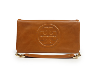 Tory Burch Leather Reva Clutch Bag