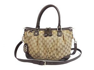 Gucci GG Canvas Sukey Top Handle Bag