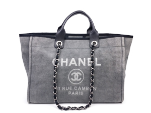 SOLD OUT Chanel Canvas Deauville Tote Bag