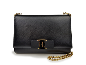 SOLD OUT Salvatore Ferragamo Vara Bow Clutch
