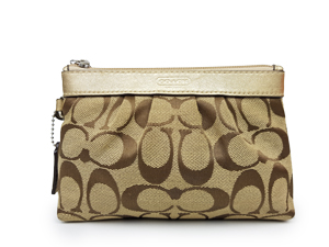 Coach Signature Pleated Wristlet F43434