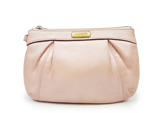 Coach Pink Leather Wristlet