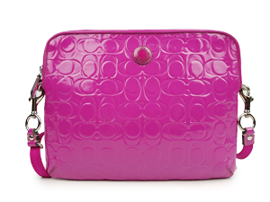 Coach Embossed Patent Leather Hot Pink Magenta Ipad/Tablet F63808