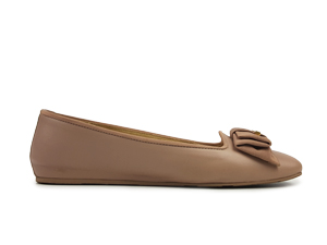 Salvatore Ferragamo My Muse Leather Bow Ballet Flats