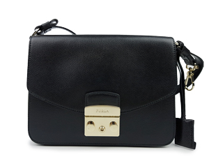 SOLD OUT Furla Black Metropolis Shoulder Bag