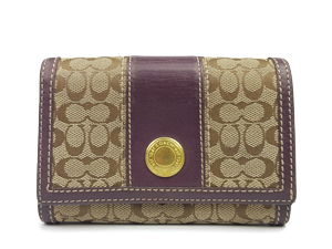 Coach Signature Compact Clutch Wallet 48465