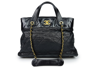 Chanel Black Calfskin Small In The Mix Tote
