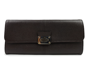 SOLD OUT Tod's Leather Snap Flap Continental Wallet