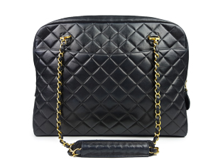SOLD OUT Chanel Vintage Lambskin Shoulder Zip Tote WGH