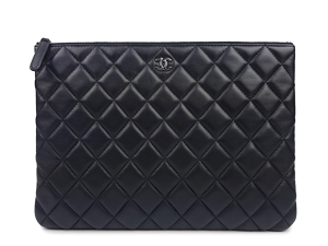 Chanel Lambskin O Case Medium