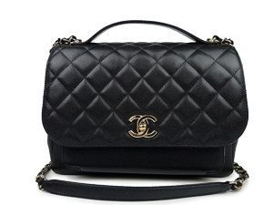 SOLD OUT Chanel Black Caviar Business Affinity Flap WGH