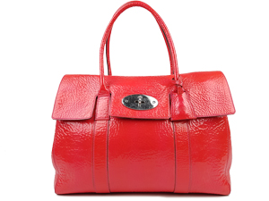 Mulberry Red Shine Leather Bayswater