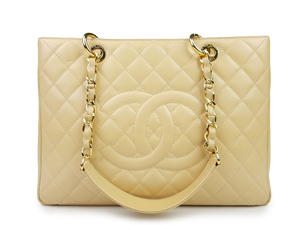 Chanel Beige Caviar Grand Shopper Tote (GST) WGH