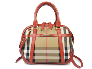 Burberry Red Sartorial House Check Tote