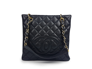 Chanel Black Caviar PST With Gold Hardware