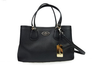 Coach Kitt Carryall Crossgrain Leather in Black 34563