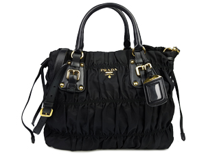 SOLD OUT Prada Black Nylon Gaufre Handle Sling Bag BN1788