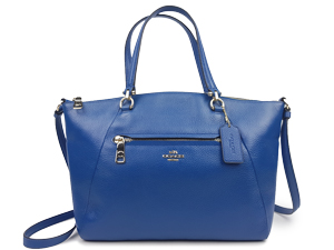 Coach Prairie Satchel In Pebble Leather Blue F34340