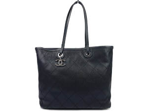 SOLD OUT Chanel Black Caviar Shopping Fever Tote