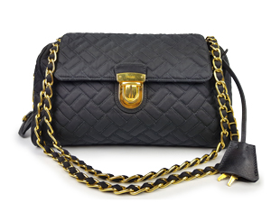 SOLD OUT Prada Nero Tessuto Impuntu Chain Bag BR4965