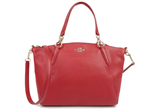Coach Kelsey Satchel In Pebble Leather F54272