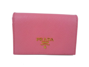 SOLD OUT BRAND NEW Prada Saffiano Calf Leather Card Holder - Pink