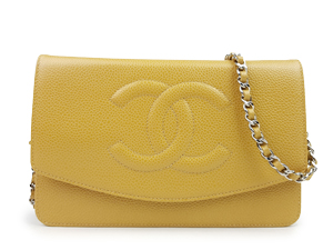 Chanel Caviar Wallet On Chain WOC WSH