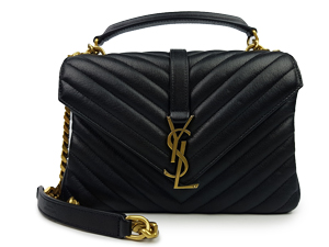 YSL Yves Saint Laurent Black College Bag