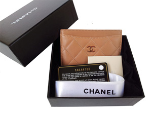 Sold Out BRAND NEW Chanel Caramel Lambskin Card Holder