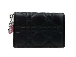 Christian Dior Lambskin Cannage Lady Dior Card Holder