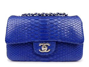 SOLD OUT Chanel Python Mini Classic Flap Bag