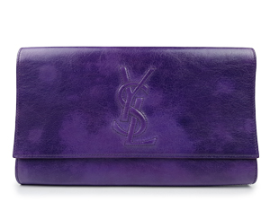 YSL Yves Saint Laurent Purple Clutch