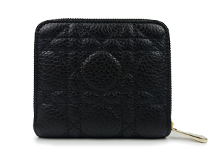 Christian Dior Black Zip Around Wallet