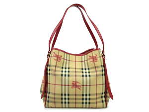 Burberry Red Haymarket Canterbury Tote