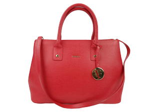 Furla Red Cabernet Serena Tote Bag