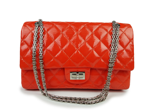 Chanel Red Patent Leather Reissue Double Flap WSH