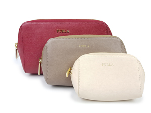 Furla 3 in 1 Leather Zip Pouch