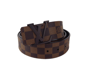 BRAND NEW Louis Vuitton Damier Ebene Initials Belt