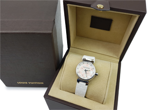 Louis Vuitton Lovely Diamond Snow Tambour Quartz Watch