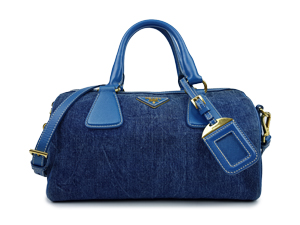 Prada Denim Avio Two Way Bag