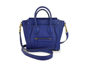 Celine Blue Calf Leather Nano Luggage