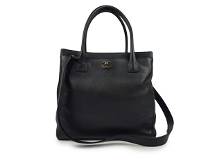 Chanel Black Caviar Cerf Tote Bag