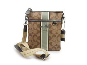 Coach Heritage Signature Swingpack Crossbody Bag 41664