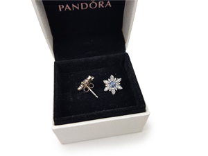 SOLD OUT Pandora Silver Crystallized Snowflake Stud Earrings